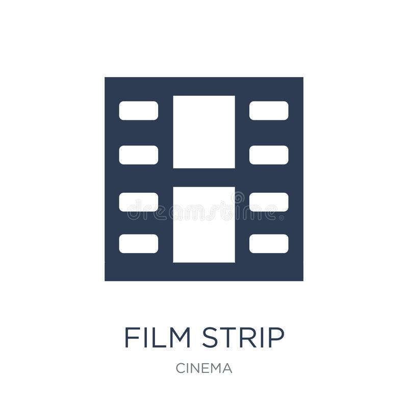 Film strip icon. Trendy flat vector Film strip icon on white background from Cinema collection vector illustration