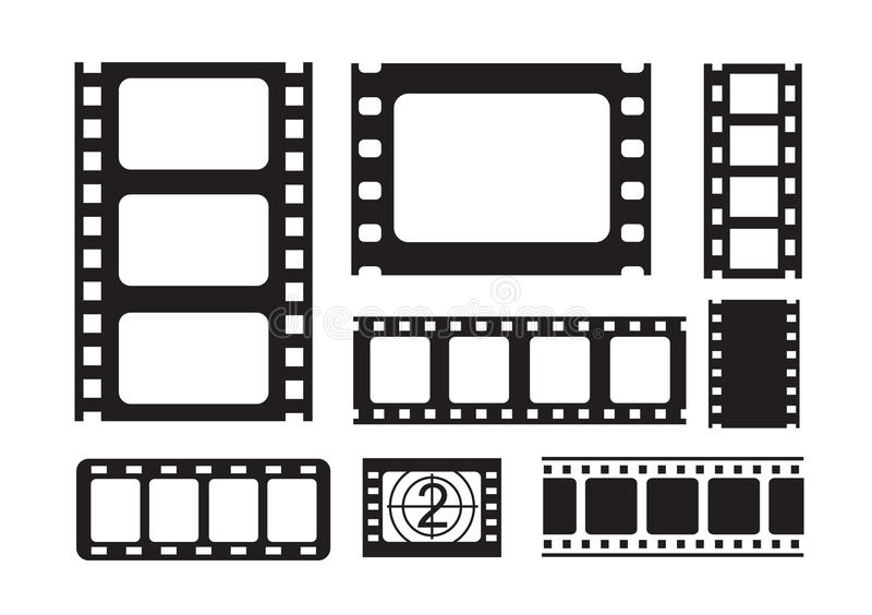 Film strip icons vector illustration