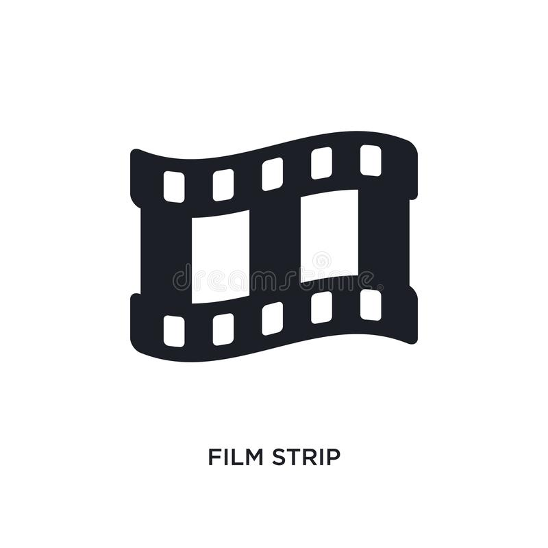 film strip isolated icon. simple element illustration from electronic stuff fill concept icons. film strip editable logo sign vector illustration