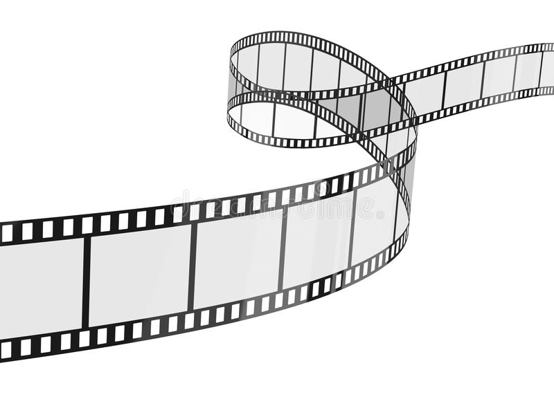 Film Strip. Isolated on the white royalty free illustration