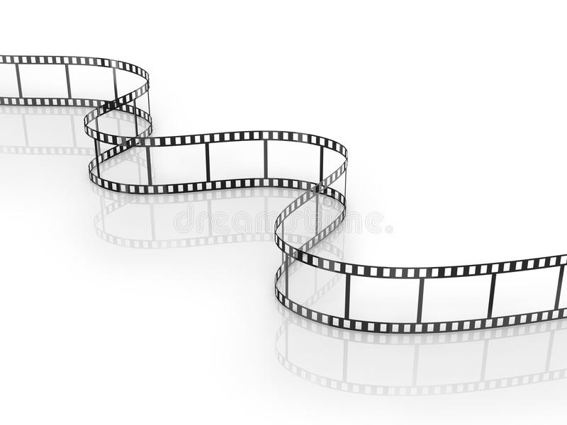Film Strip. Isolated on the white vector illustration