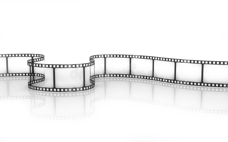 Film Strip. Isolated on white stock illustration