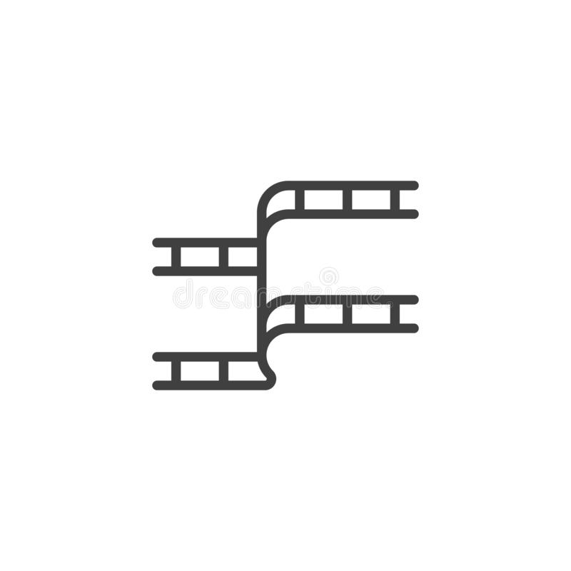 Film strip line icon stock illustration