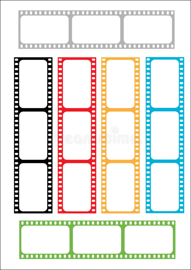 Film Strip Multicoloured Stock Photos