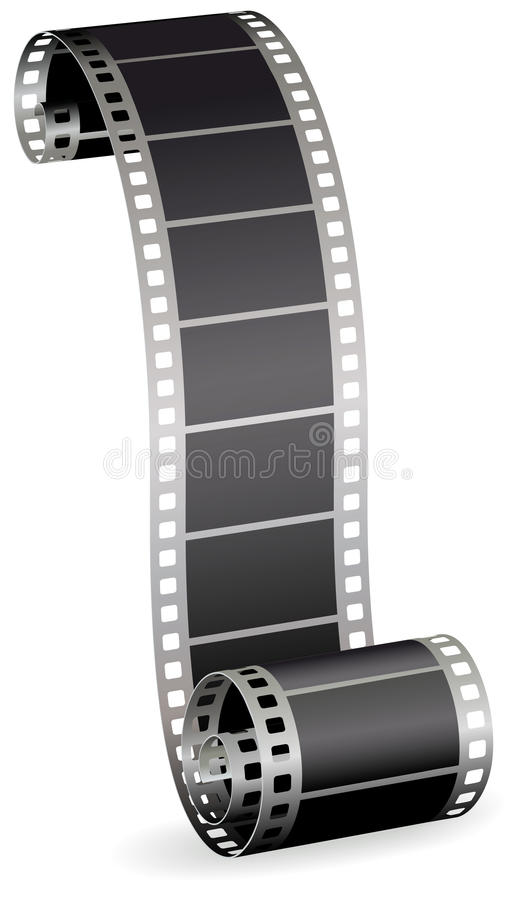 Film strip for photo or video on white background royalty free illustration