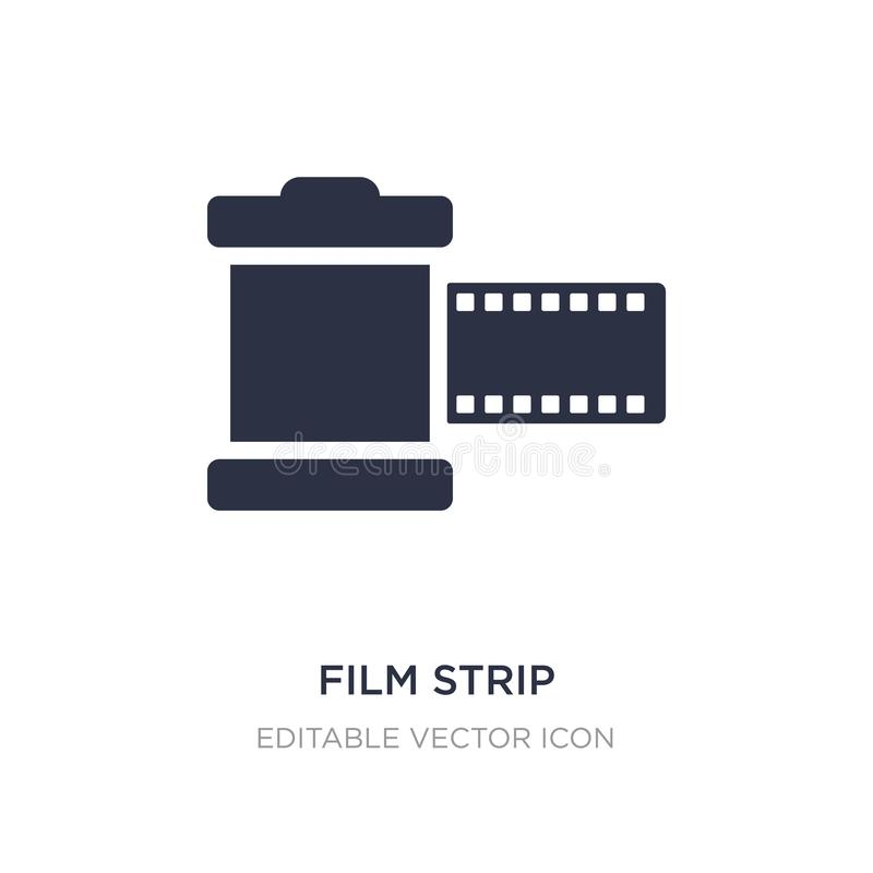 film strip photograms icon on white background. Simple element illustration from Tools and utensils concept stock illustration