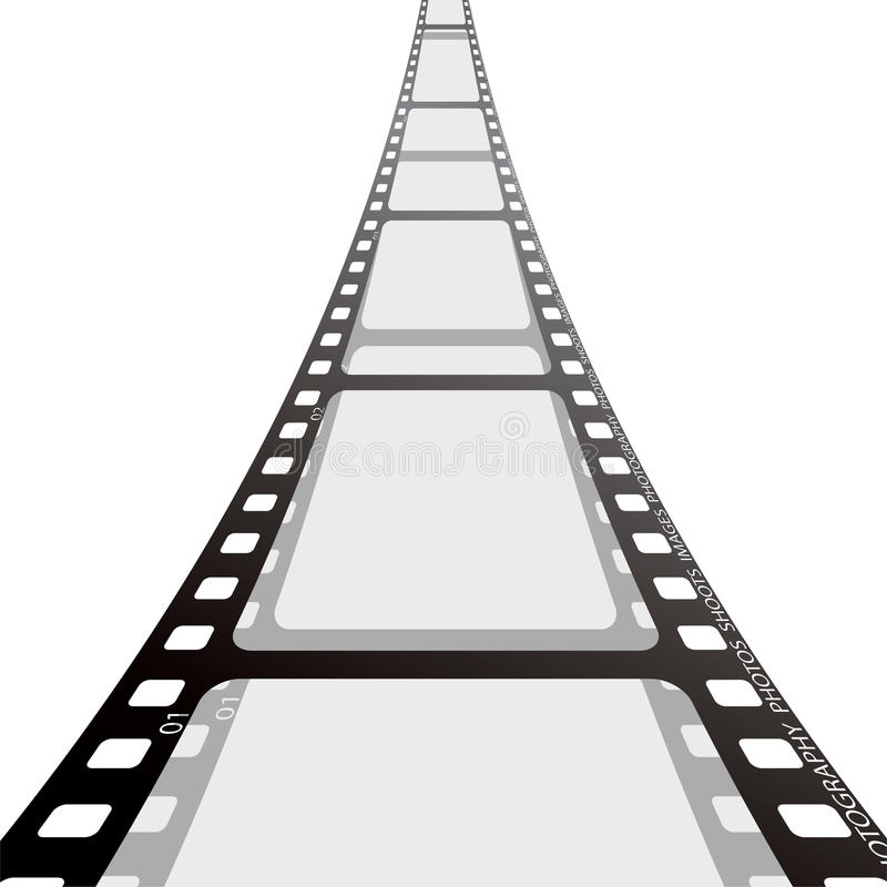 Film strip reel royalty free stock photo