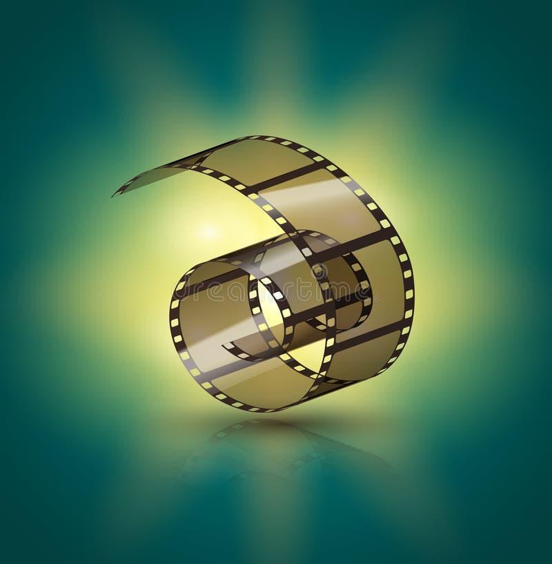 Film strip roll. Cinema tape design. Filmstrip movie entertainment. Cinematography frame vector illustration