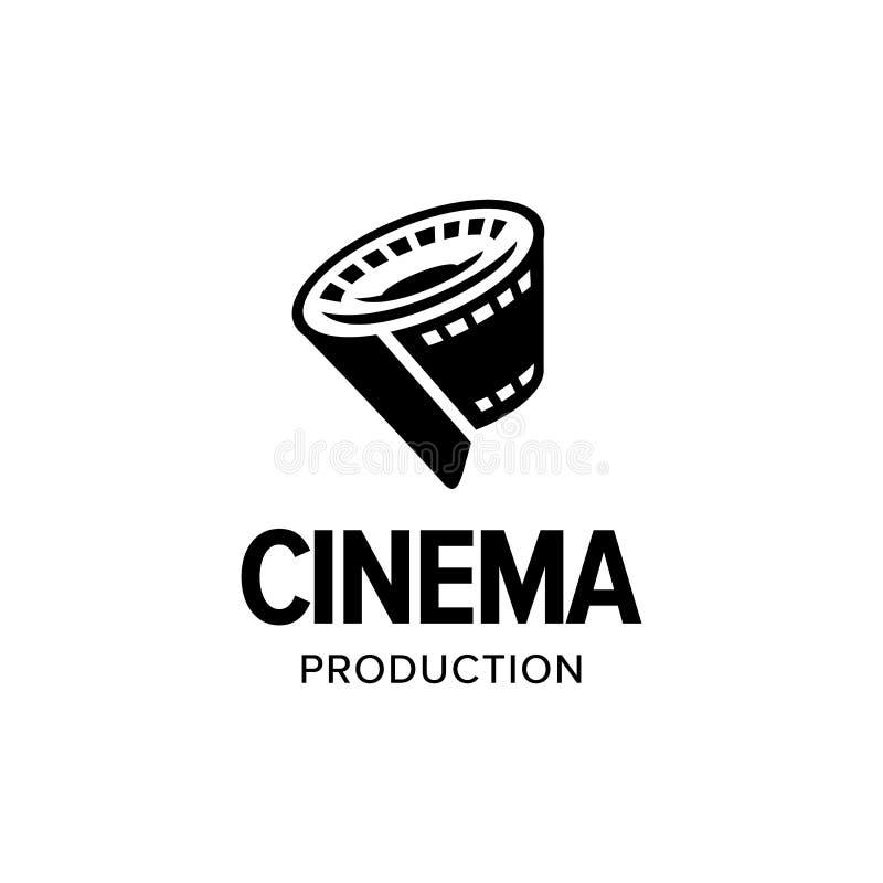 Film strip roll logo vector inspiration royalty free stock image