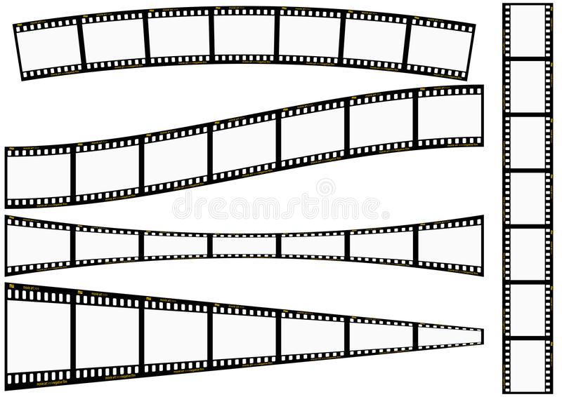 Download Film strip set stock vector. Illustration of background - 12131999