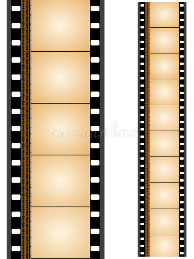 Film strip. S beautiful designed with more elements stock illustration