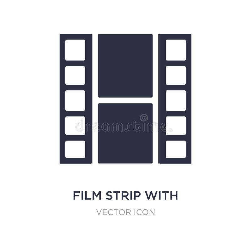 film strip with a triangle inside icon on white background. Simple element illustration from UI concept royalty free illustration