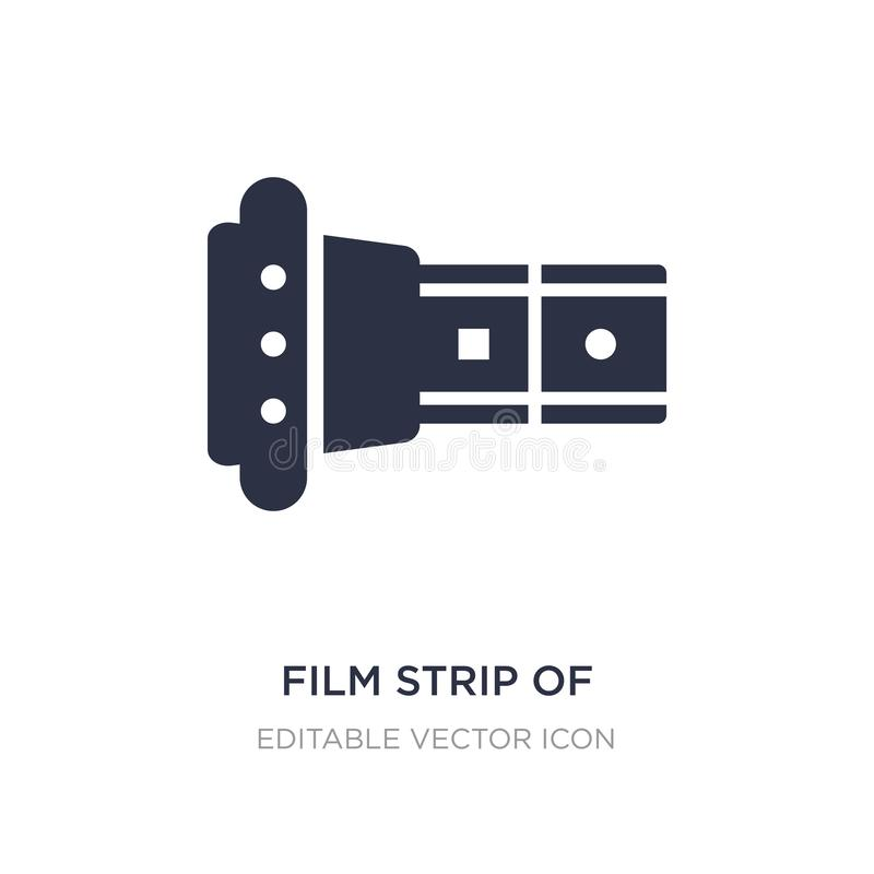 film strip of two photograms icon on white background. Simple element illustration from Cinema concept stock illustration