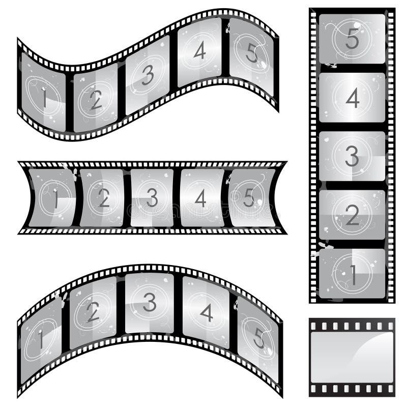 film strip vector stock illustration