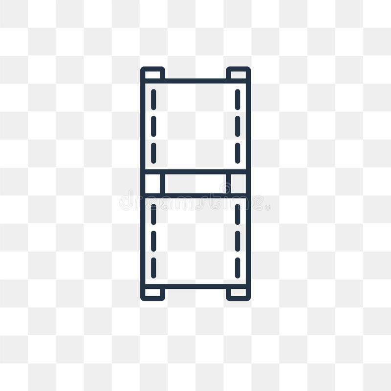 Film Strip vector icon isolated on transparent background, linear Film Strip transparency concept can be used web and mobile stock illustration