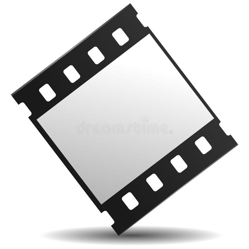 Film strip. Vector illustration of 35 mm film strip stock illustration