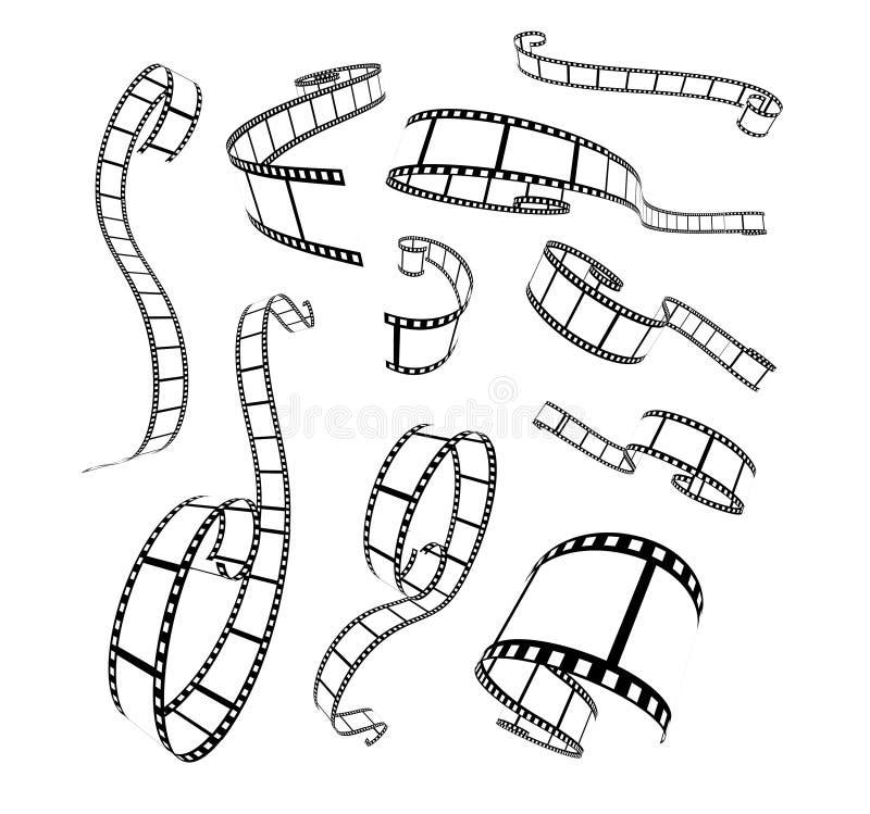 Film strip vector illustration. On white background stock illustration