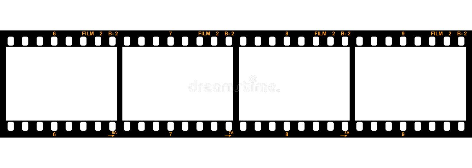 35 film strip vector. Stck vector 35mm film strip isolated on white background vector illustration