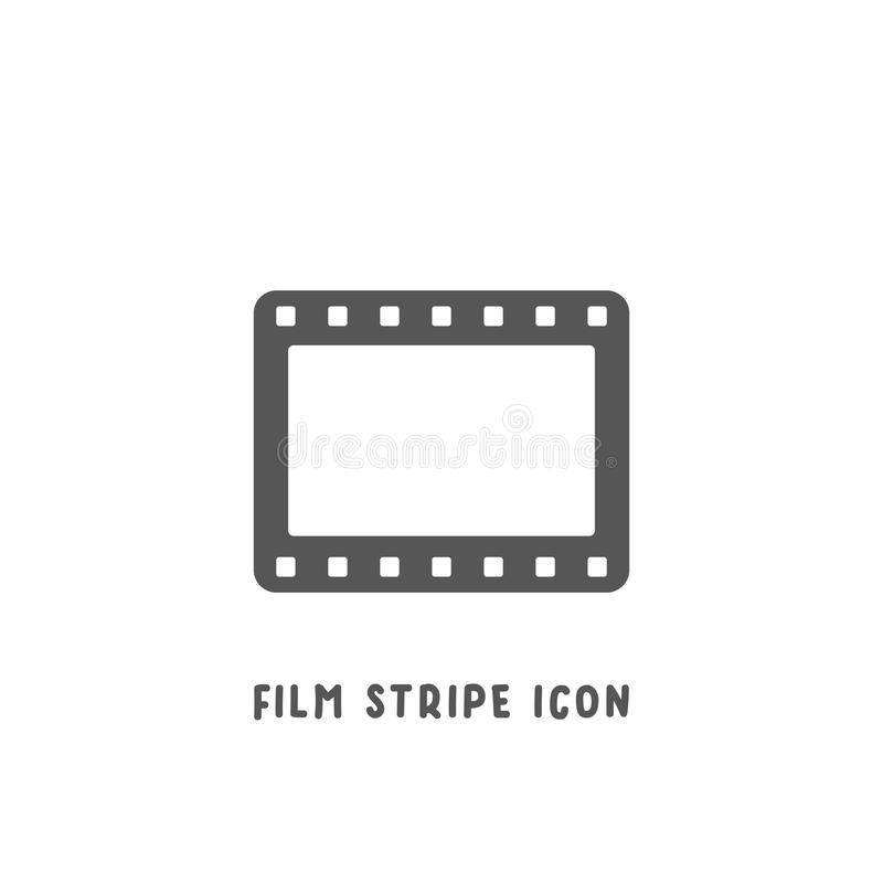 Film stripe icon simple flat style vector illustration vector illustration