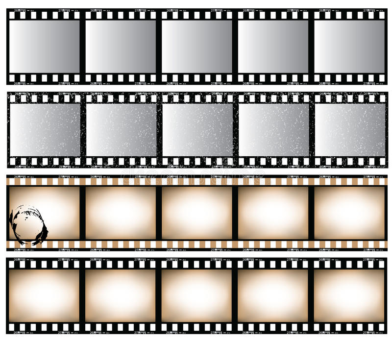 Film strips vector illustration