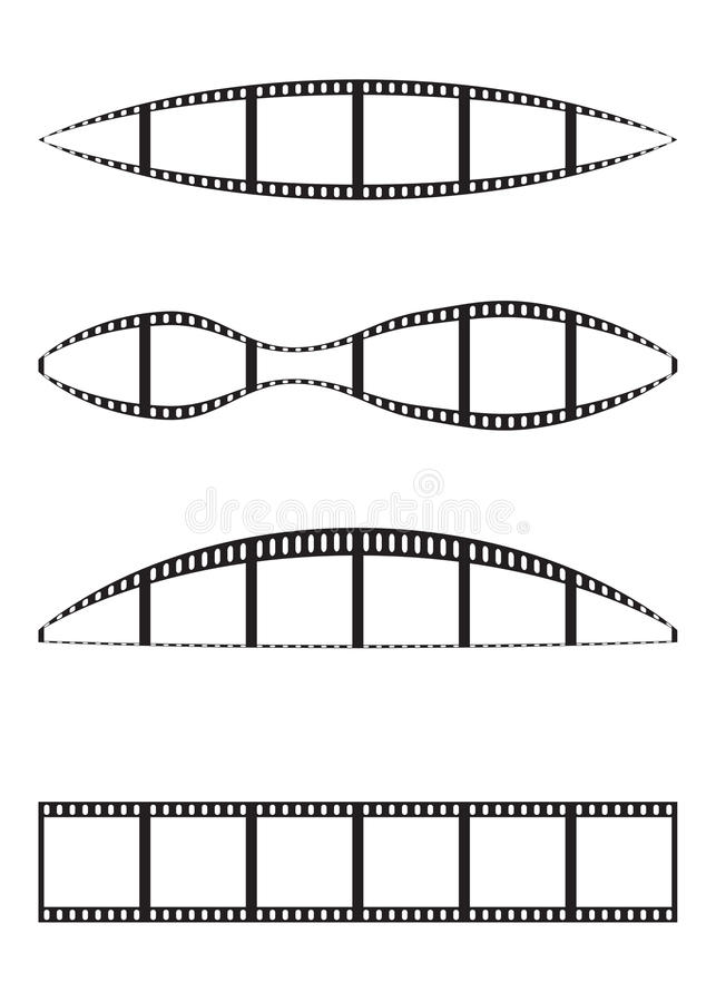 Download Film strips stock vector. Illustration of clip, perspective - 22455938