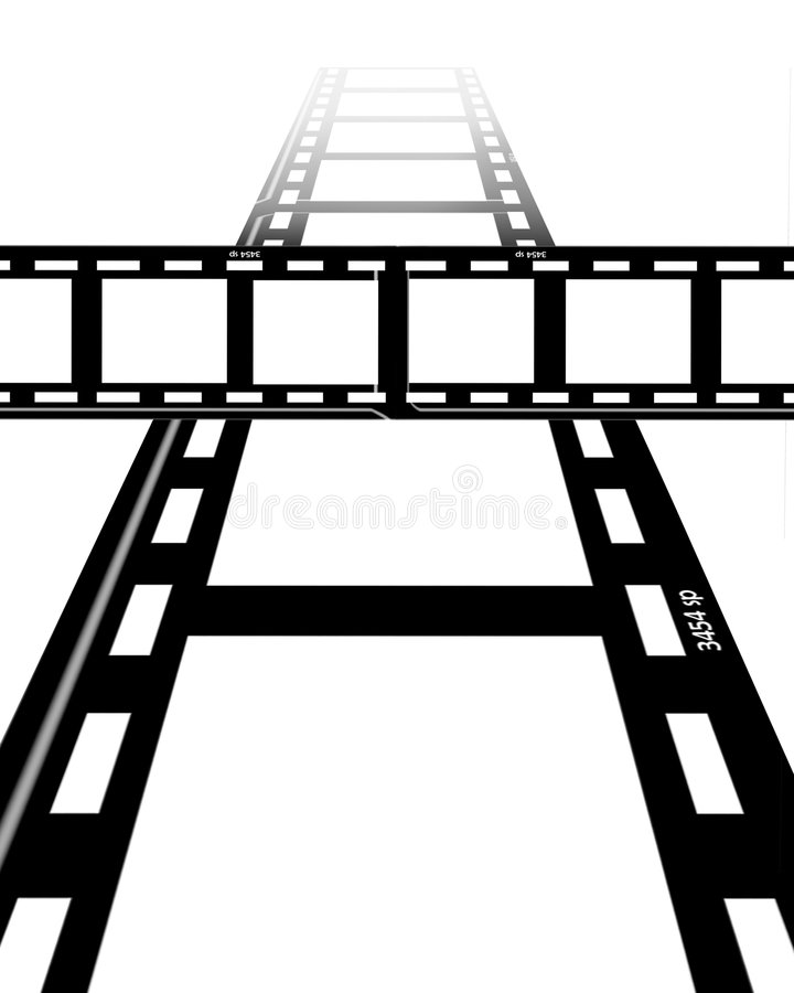 Film strips stock illustration