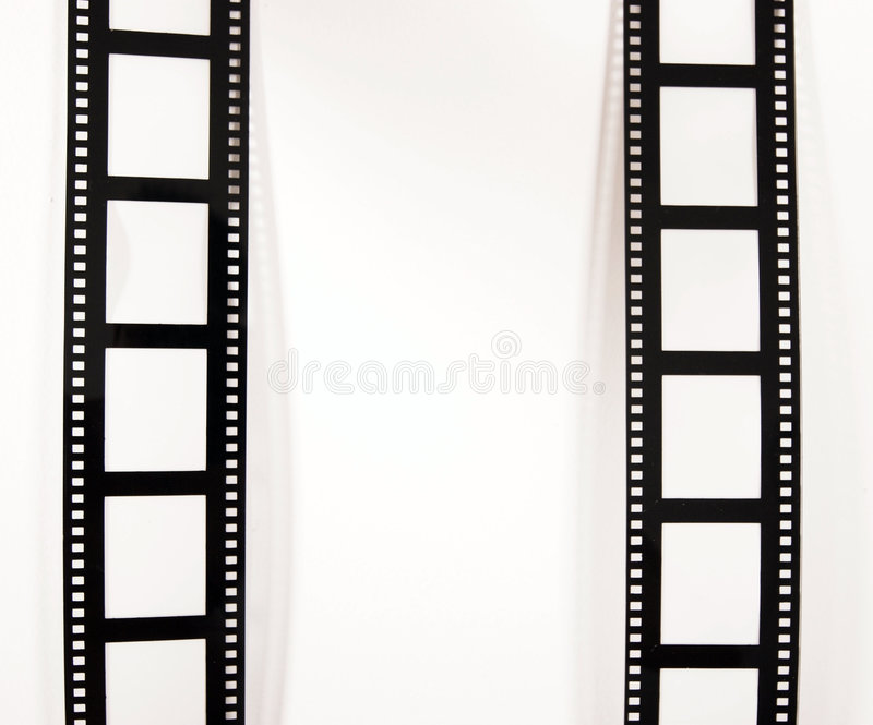 Download Film strips stock image. Image of pair, frames, film, white - 843193