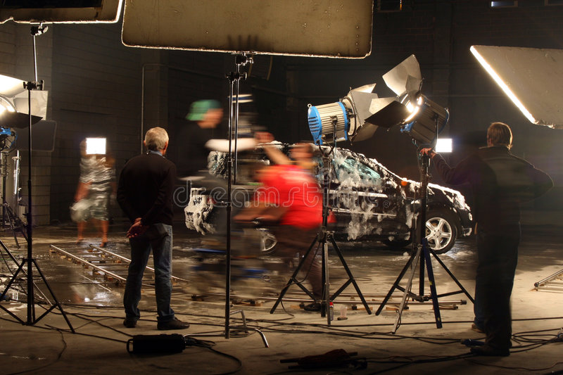 In a film studio royalty free stock photos