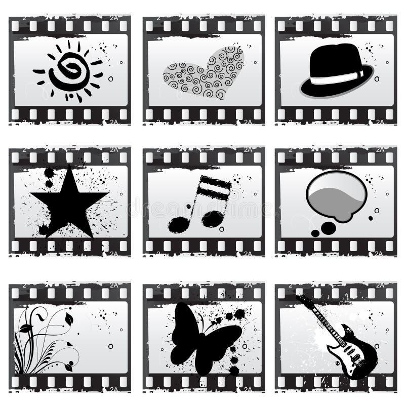 Film with symbols vector illustration