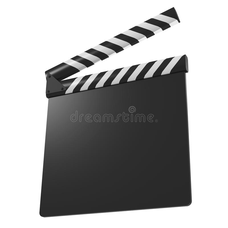 Film sync of klapraad stock illustratie