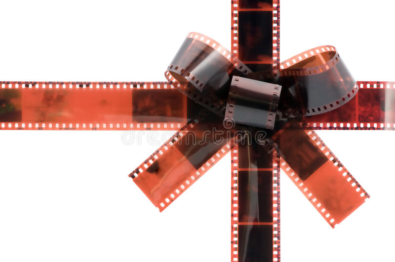 Download Film tape bow stock photo. Image of photo, gift, entertainment - 12411986
