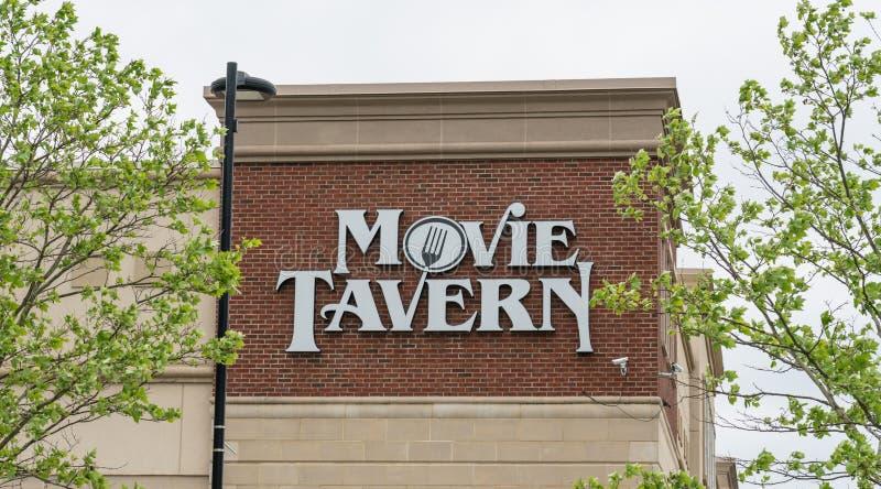 Film tawerna Marcus Theatres znakiem zdjęcie stock