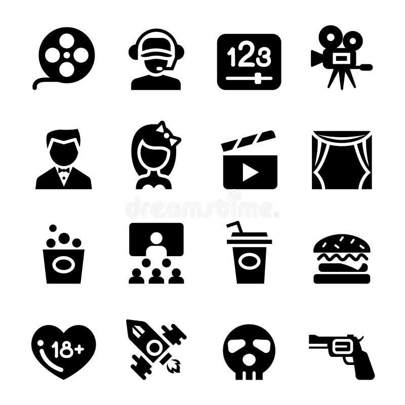 Film, theater, bioskooppictogram vector illustratie