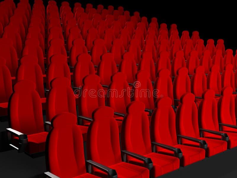 Film-Theater-Sitze lizenzfreie abbildung