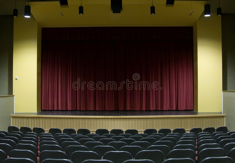 Film-Theater-Stufe lizenzfreie stockfotografie
