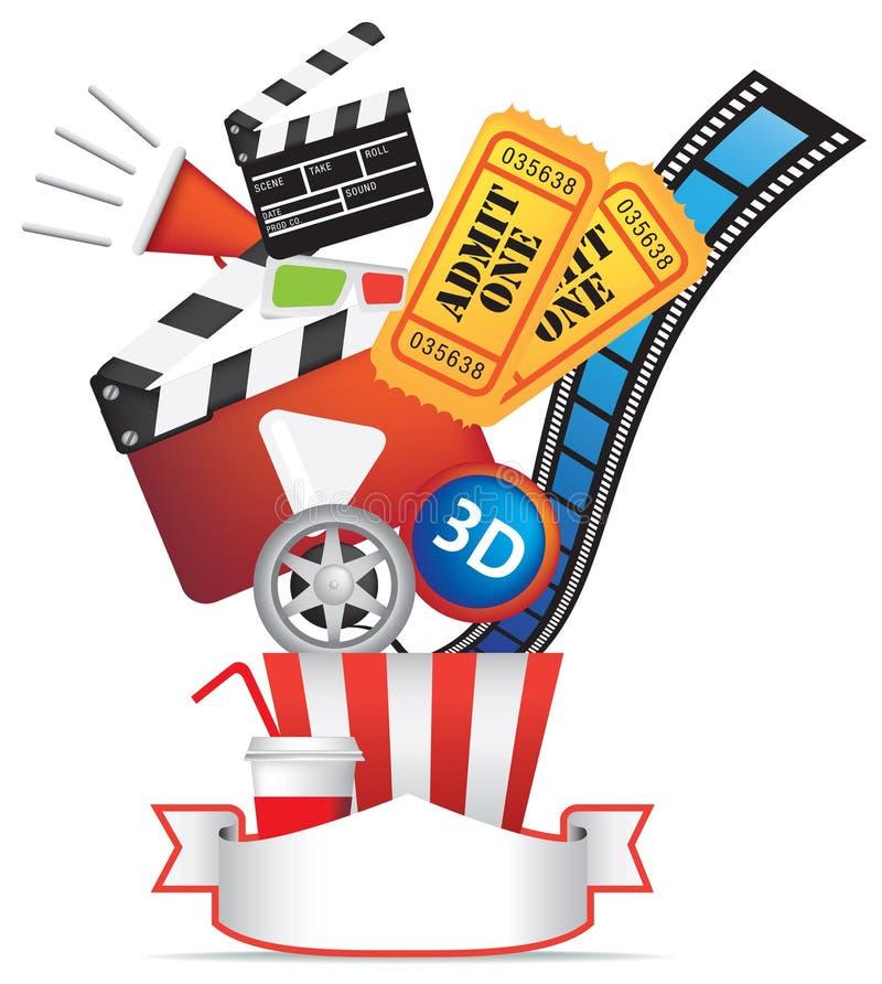 FILM UND KINO-HINTERGRUND-ELEMENT lizenzfreie abbildung
