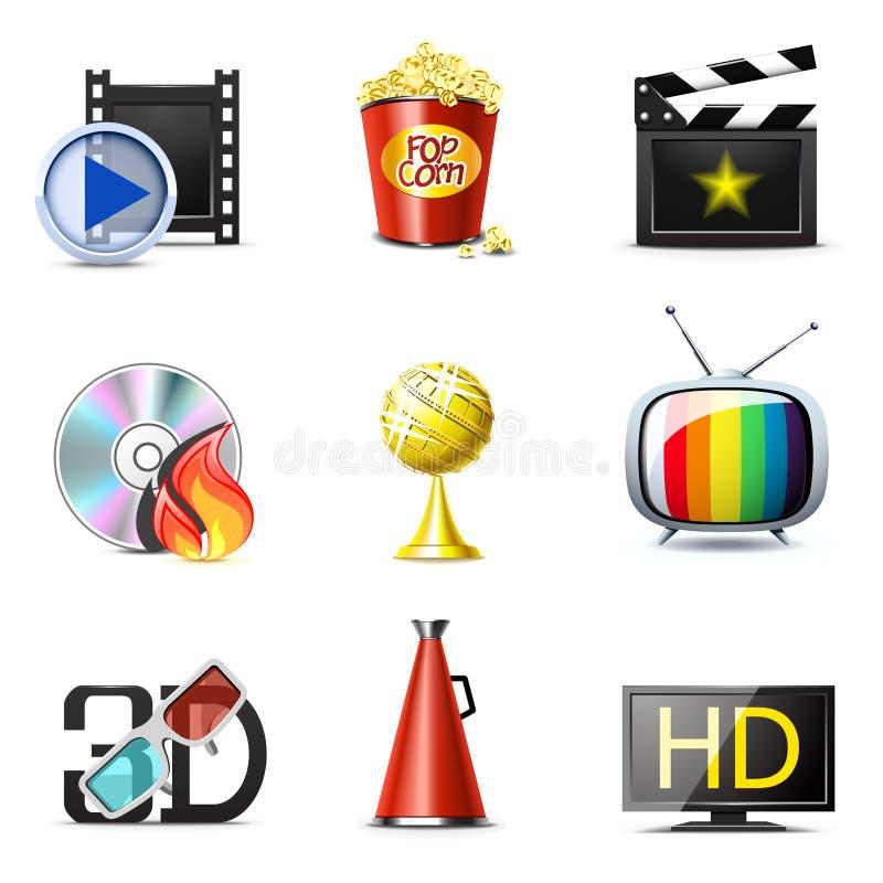 Film- und Kinoikonen | Bella Serie stock abbildung