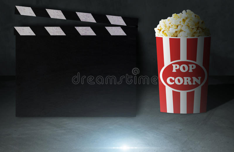 Film-und Popcorn-Konzept stockbilder