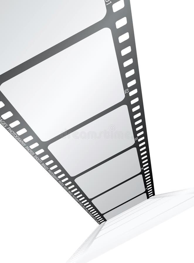 Film vanaf de bovenkant stock illustratie