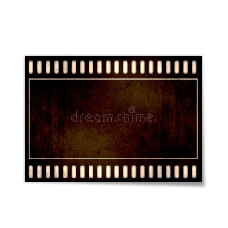 Film. Vector illustration of vintage photographic 35 mm film sheet royalty free illustration