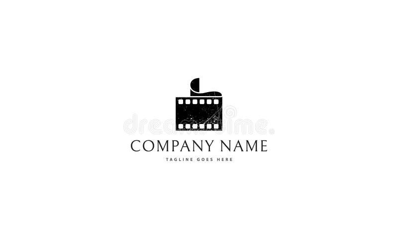 Film vectorembleem royalty-vrije illustratie