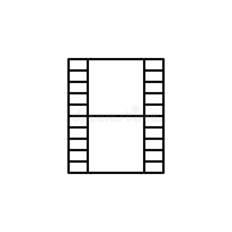 Film video strip outline icon. Signs and symbols can be used for web, logo, mobile app, UI, UX. On white background royalty free illustration