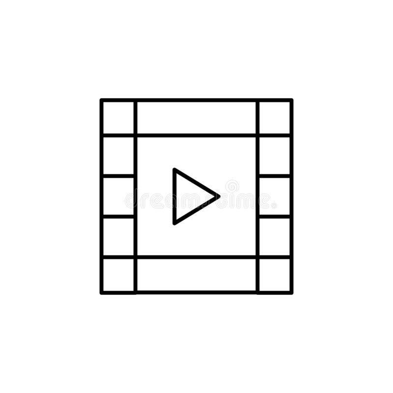 Film video strip outline icon. Signs and symbols can be used for web, logo, mobile app, UI, UX vector illustration