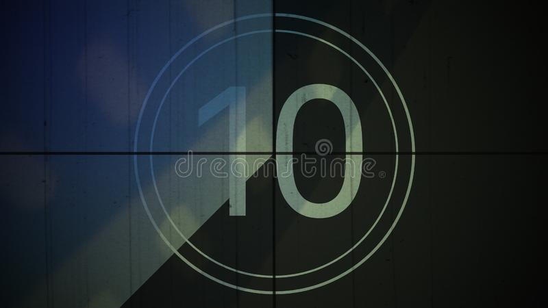 Film Vintage countdown number 10 background royalty free stock photo