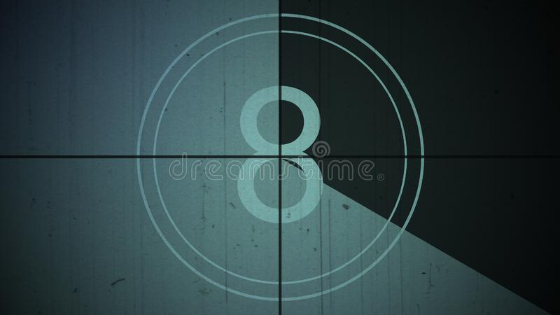 Film vintage countdown number 8 eight background stock photography