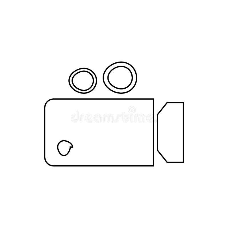 Video camera icon. Live video button vector illustration