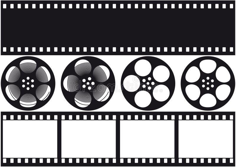 Film visuel illustration de vecteur