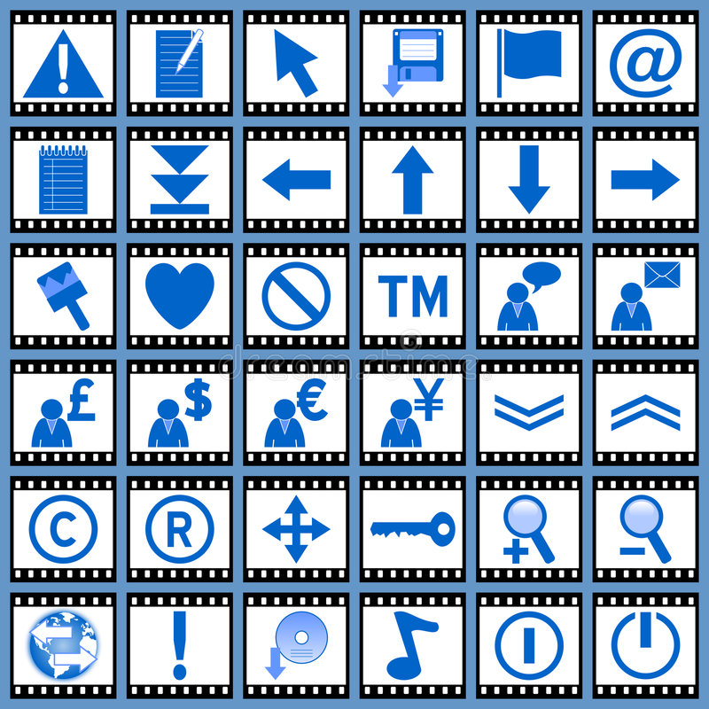 Download Film Web Icons [2] stock illustration. Image of disk, computer - 4950564