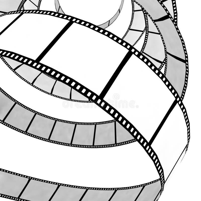 film występować samodzielnie roll ilustracja wektor