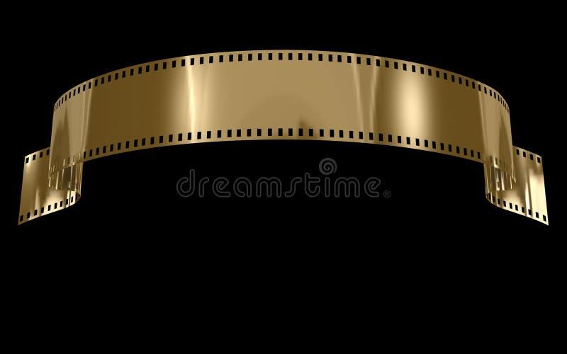 film złoto ilustracja wektor